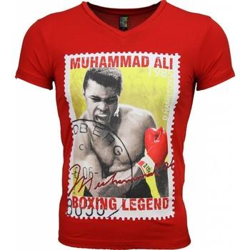 Textiel Heren T-shirts korte mouwen Mascherano T-shirt - Muhammad Ali Zegel Print 8