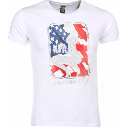Textiel Heren T-shirts korte mouwen Local Fanatic NPA Print Wit