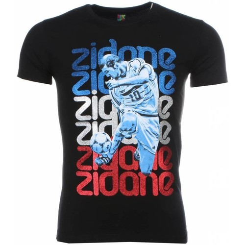 Textiel Heren T-shirts korte mouwen Local Fanatic Zidane Print Zwart