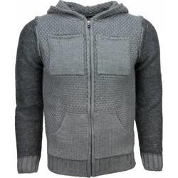Textiel Heren Vesten / Cardigans Enos Casual Vest - Breiwol Capuchon Twee Kleuren Blanco 35