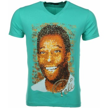 Textiel Heren T-shirts korte mouwen Local Fanatic Pele Turquoise