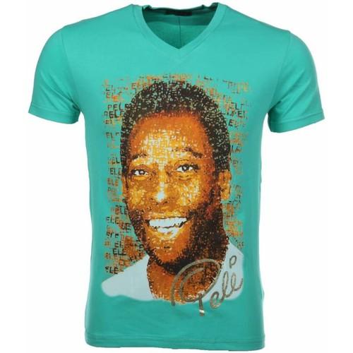 Textiel Heren T-shirts korte mouwen Local Fanatic Pele Turquoise