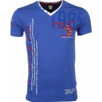 Textiel Heren T-shirts korte mouwen David Mello Italiaanse T-shirt - Korte Mouwen Heren - Borduur Polo Club 19