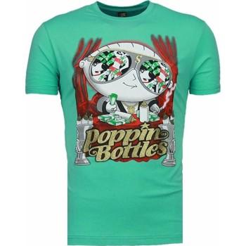 Textiel Heren T-shirts korte mouwen Mascherano Poppin Stewie - T-shirt Turquoise