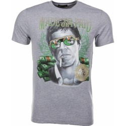 Textiel Heren T-shirts korte mouwen Mascherano T-shirt Made To Get Paid Scarface 35