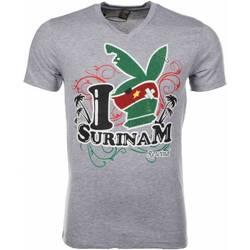 Textiel Heren T-shirts korte mouwen Mascherano T-shirt - I Love Suriname 35