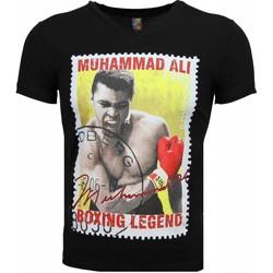 Textiel Heren T-shirts korte mouwen Mascherano T-shirt - Muhammad Ali Zegel Print 38