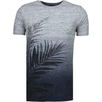 Textiel Heren T-shirts korte mouwen Black Number Tree Pattern Summer - T-Shirt 19