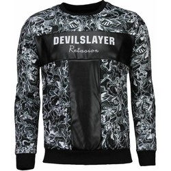 Textiel Heren Sweaters / Sweatshirts Devil Slayer Black&White - Sweater 38