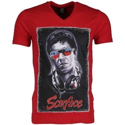 Textiel Heren T-shirts korte mouwen Local Fanatic Scarface Rood