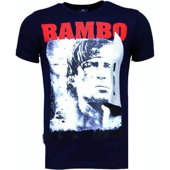 Textiel Heren T-shirts korte mouwen Local Fanatic Rambo - Rhinestone T-shirt Blauw