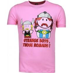 Textiel Heren T-shirts korte mouwen Local Fanatic Romans Roze