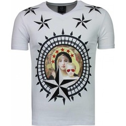 Textiel Heren T-shirts korte mouwen Local Fanatic Holy Mary - Rhinestone T-shirt - Wit