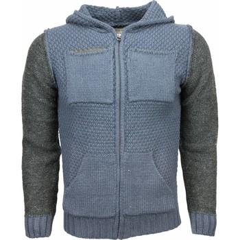 Textiel Heren Vesten / Cardigans Enos Casual Vest - Breiwol Capuchon Twee Kleuren Blanco 19