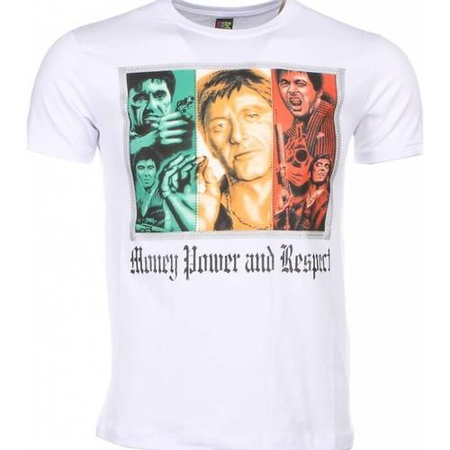Textiel Heren T-shirts korte mouwen Local Fanatic Scarface Money Power Respect Print Wit