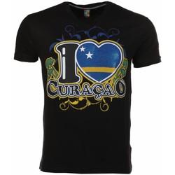 Textiel Heren T-shirts korte mouwen Mascherano T-shirt I Love Curacao 38