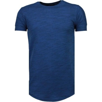 Textiel Heren T-shirts korte mouwen Tony Backer Sleeve Ribbel - T-Shirt - Blauw