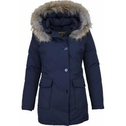 Textiel Dames Parka jassen Beluomo Bontjassen - Dames Winterjas Wooly Lang - Bontkraag - Parka Stee 19