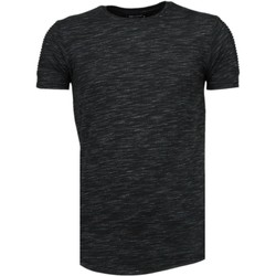 Textiel Heren T-shirts korte mouwen Tony Backer Sleeve Ribbel - T-Shirt - Zwart