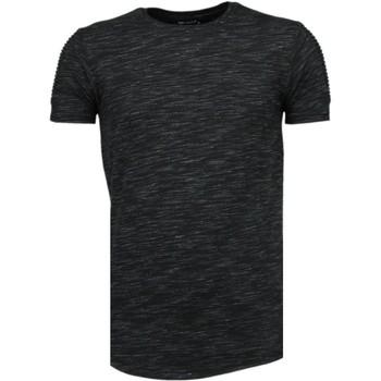 T-shirt Korte Mouw Tony Brend  Sleeve Ribbel - T-Shirt
