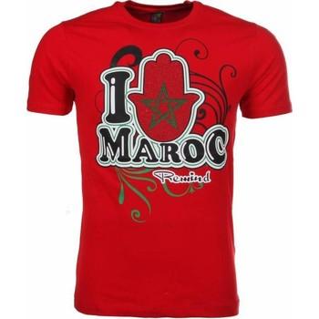 Textiel Heren T-shirts korte mouwen Mascherano T-shirt I Love Maroc 8