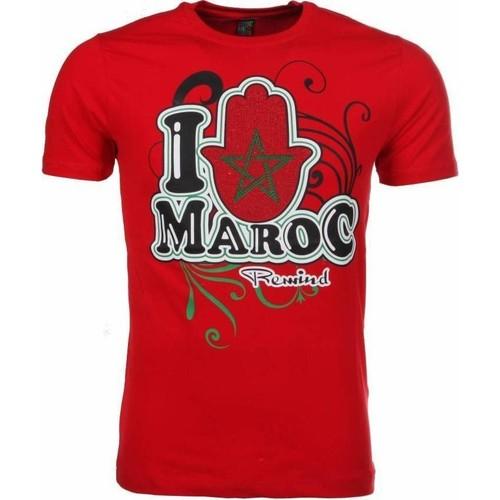 Textiel Heren T-shirts korte mouwen Local Fanatic I Love Maroc Rood