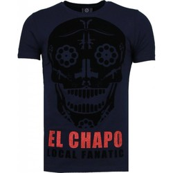 Textiel Heren T-shirts korte mouwen Local Fanatic El Chapo - Flockprint T-shirt Blauw