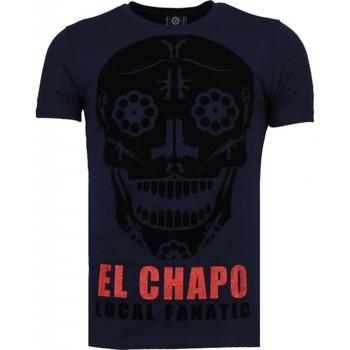 Textiel Heren T-shirts korte mouwen Local Fanatic El Chapo - Flockprint T-shirt