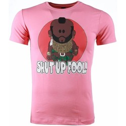 Textiel Heren T-shirts korte mouwen Mascherano T-shirt - A-team Mr.T Shut Up Fool Print 13
