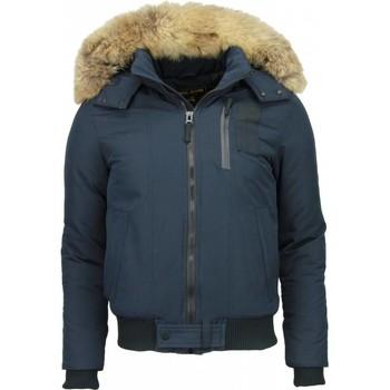 Textiel Heren Parka jassen Enos Bontjassen - Heren Winterjas Kort - Grote Bontkraag - Hoody Fur 19
