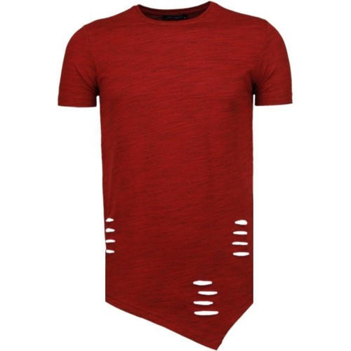 Textiel Heren T-shirts korte mouwen Tony Backer Sleeve Ripped - T-Shirt - Rood