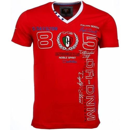 Textiel Heren T-shirts korte mouwen David Copper Korte Mouwen Borduur Automobile Club Rood