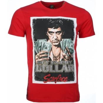 Textiel Heren T-shirts korte mouwen Mascherano T-shirt - Scarface Get Every Dollar Print 8