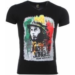 Textiel Heren T-shirts korte mouwen Mascherano T-shirt - Bob Marley Concrete Jungle Print 38
