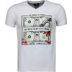 Textiel Heren T-shirts korte mouwen Local Fanatic Scarface Dollar Wit
