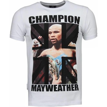 Textiel Heren T-shirts korte mouwen Local Fanatic Mayweather - Rhinestone T-shirt 1