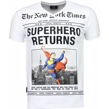Textiel Heren T-shirts korte mouwen Local Fanatic SuperHero Returns - T-shirt 1