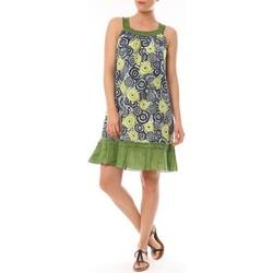 Textiel Dames Korte jurken By La Vitrine Robe Dublin imprimée Géometrique Groen