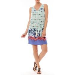 Textiel Dames Korte jurken By La Vitrine Ema Blues Robe Bambou Bleu Blauw