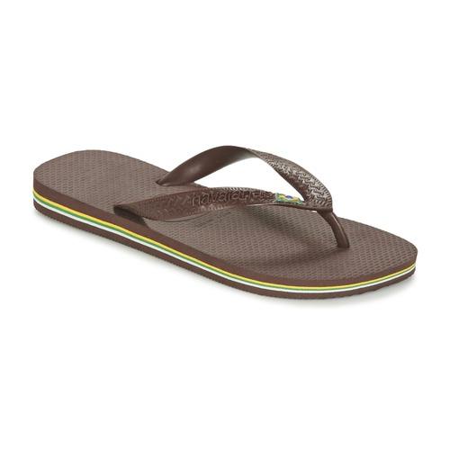 Schoenen Teenslippers Havaianas BRASIL Bruin