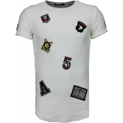 Textiel Heren T-shirts korte mouwen John H Exclusief Military Patches - T-Shirt 1