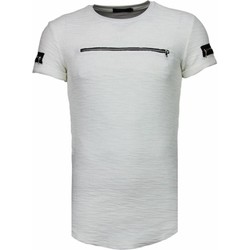 Textiel Heren T-shirts korte mouwen Justing Zipped Chest - T-Shirt - Wit
