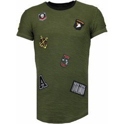 Textiel Heren T-shirts korte mouwen Justing Military Patches - T-Shirt -