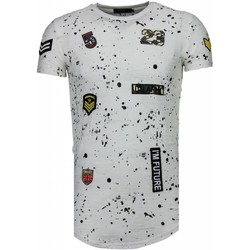 Textiel Heren T-shirts korte mouwen John H Exclusief Military Patches Paint Splash - T-Shirt 1