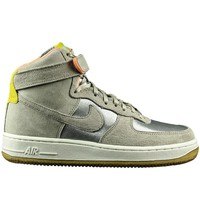 Schoenen Heren Hoge sneakers Nike Air Force 1 07 High Premium Beige-Zilveren