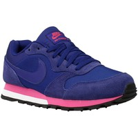 Schoenen Dames Lage sneakers Nike MD Runner Blauw-Paars-Roos