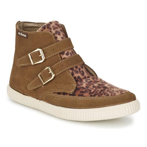 Schoenen Dames Hoge sneakers Victoria 16706 Bruin