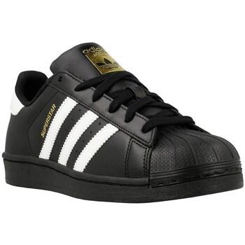 Schoenen Jongens Lage sneakers adidas Originals Superstar Foundation J Wit-Zwart