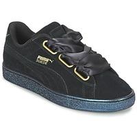 Schoenen Dames Lage sneakers Puma BASKET HEART SATIN WN'S Zwart