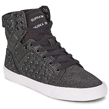 Schoenen Dames Hoge sneakers Supra SKYTOP Zwart / Wit